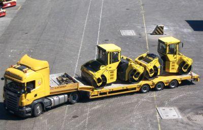 Ceļu būvniecības tehnikas BOMAG piegāde no Hopgartenas (DE) uz Krieviju