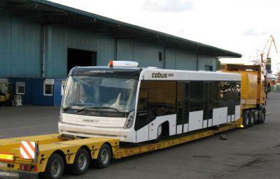 Autobusu COBUS 3000 piegāde uz Krievijas lidostām