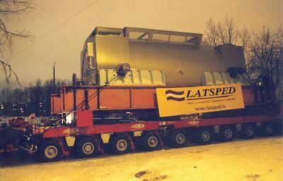 Lielgabarīta aprīkojuma 300 tonnas transportēšana Nīderlande – Latvija